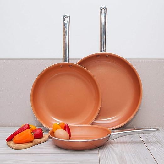 Amazon.com: Imperial Home sartén de cobre set/3 pack ...
