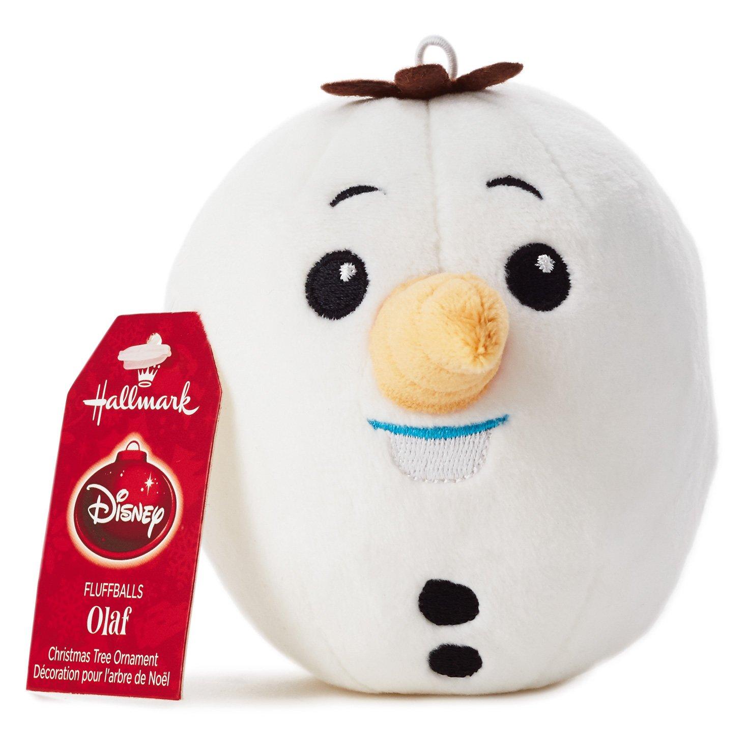 Amazon.com: Hallmark Disney Frozen Olaf Fluff Ball Ornament: Home ...