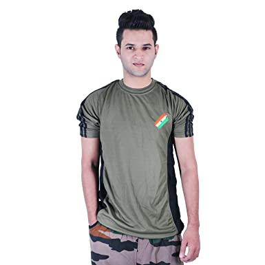 e5fac4667 Army Print Flag T-Shirt Half Sleeves: Amazon.in: Clothing & Accessories