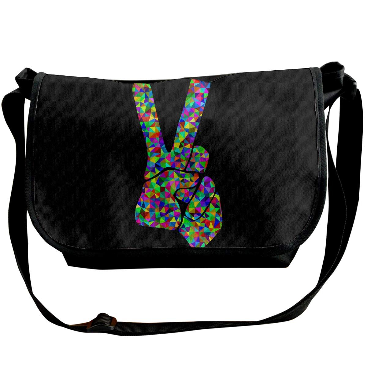 Futong Huaxia Victory Hand Gesture V Hand Gesture Travel Messenger Bags Handbag Shoulder Bag Crossbody Bag Unisex