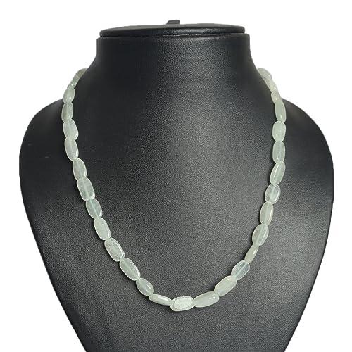 gemhub 96.50 CT Verde Serpentine Healing Crystal Chakra Reiki One hebra Collar para Mujer DR-
