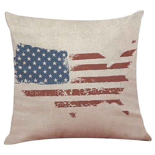 Funda de almohada de la bandera americana,Subfamily®Cajas de ...
