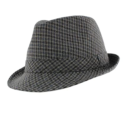 2e3a3cfc05e Men s  Chris  Country Checked Trilby Hat  Amazon.co.uk  Clothing