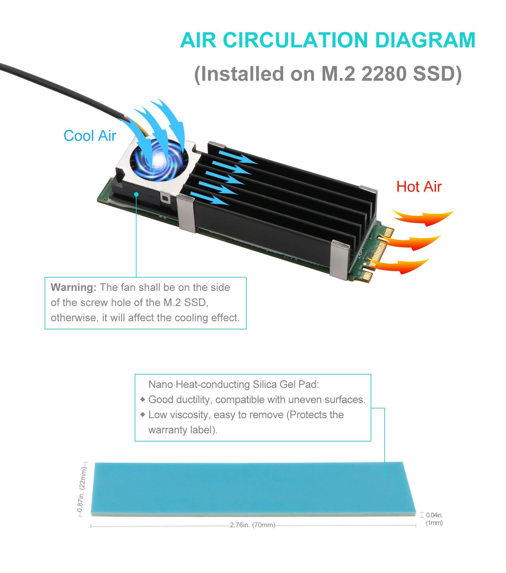 Advancing Gene NVMe M.2 SSD Cooler Heatsinks with 20mm Fan, 2nd Generation by Advancing Gene (Image #3)