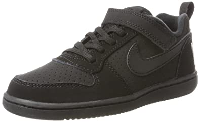newest 4e77c 54af0 Nike 870025-001  Little Kid s Court Borough Low PSV Black Black Sneakers (