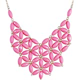Jane Stone Tessellate Net Fashion Statement Beaded Jewelry Bib Necklace for Women