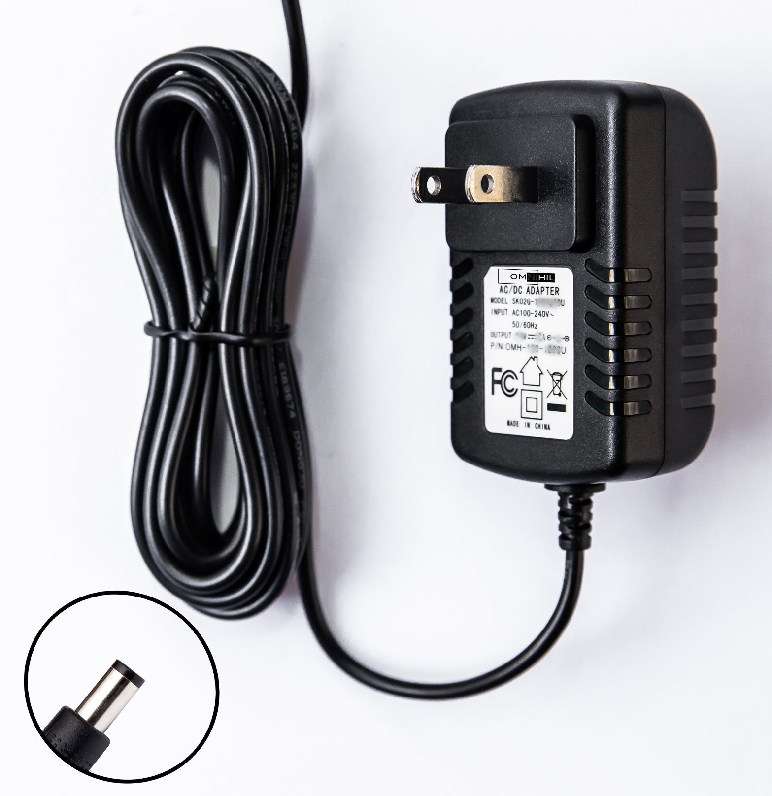 OMNIHIL Replacement AC Adapter Charger Switching Power Supply Cord Plug Wd Western Digital External Hard Drive HDD My Book Essential: WDH1U10000S Extra Long 8 Foot Cord by OMNIHIL (Image #3)