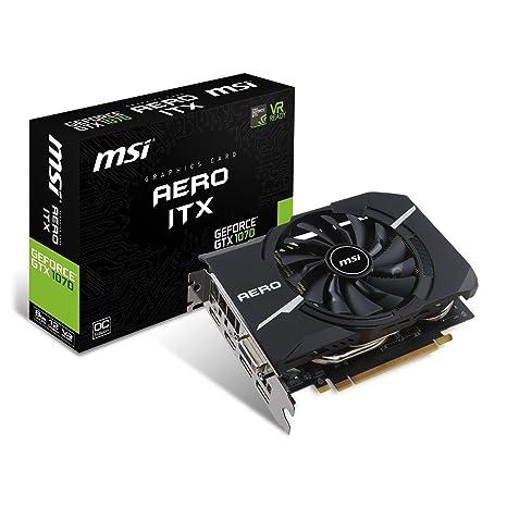 MSI GeForce GTX 1070 Aero ITX 8G OC - Tarjeta Gráfica Aero
