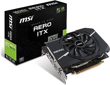 MSI VGA GeForce GTX 1070 AERO ITX 8G OC GTX1070 8GB GDDR5 256b DX12 PCIE 3.0 x16 (1xDVI 1xHDMI 3xDP)