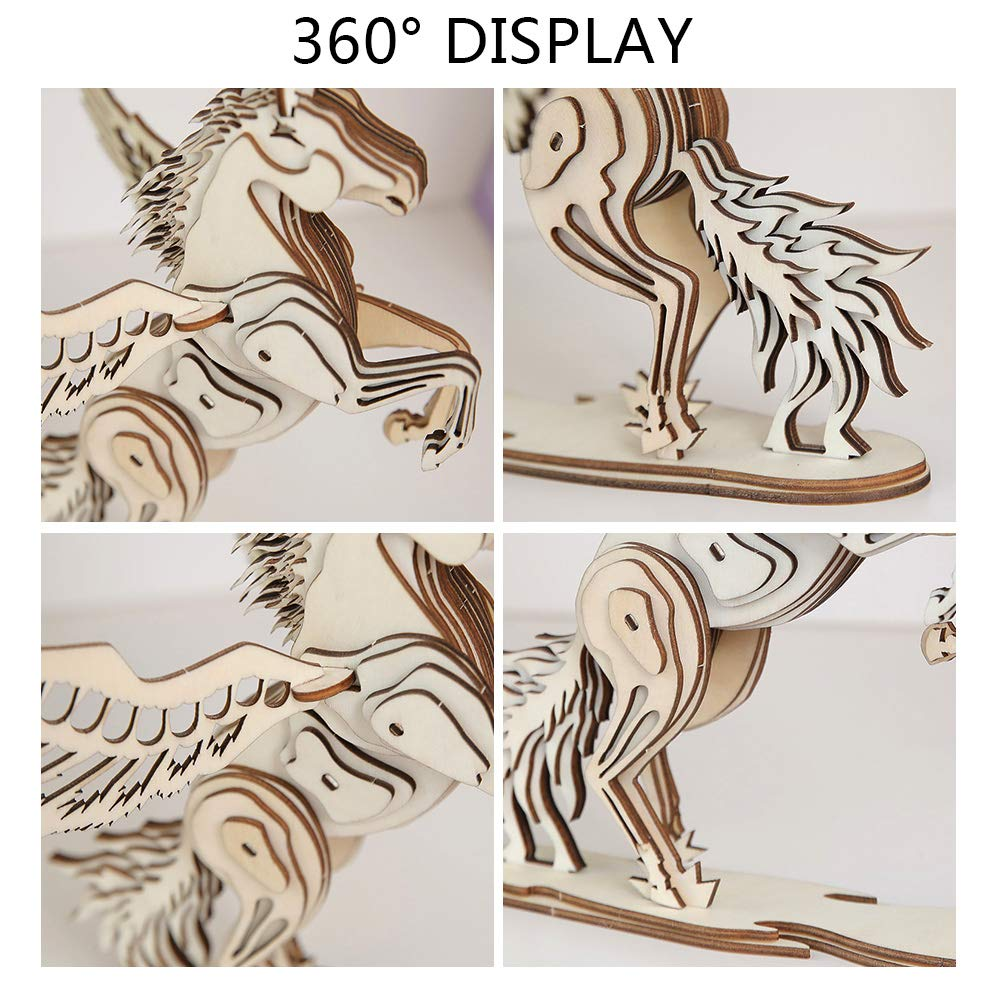 Qicheng Unicorn 3d Puzzle 3d Wooden Puzzle Model Woodworking