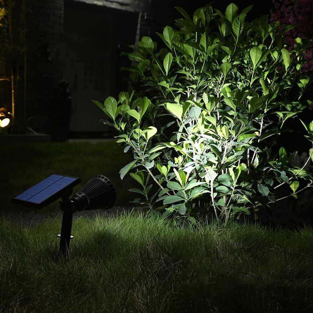 Auto-on At Night//Auto-off By Day,180/°angle Adjustable for Patio,Tree,Deck,Wall Daylight 6000K T-SUN LED Solar Spotlights Super Bright 250LM Outdoor Security Garden Landscape Lamps Pool Area.