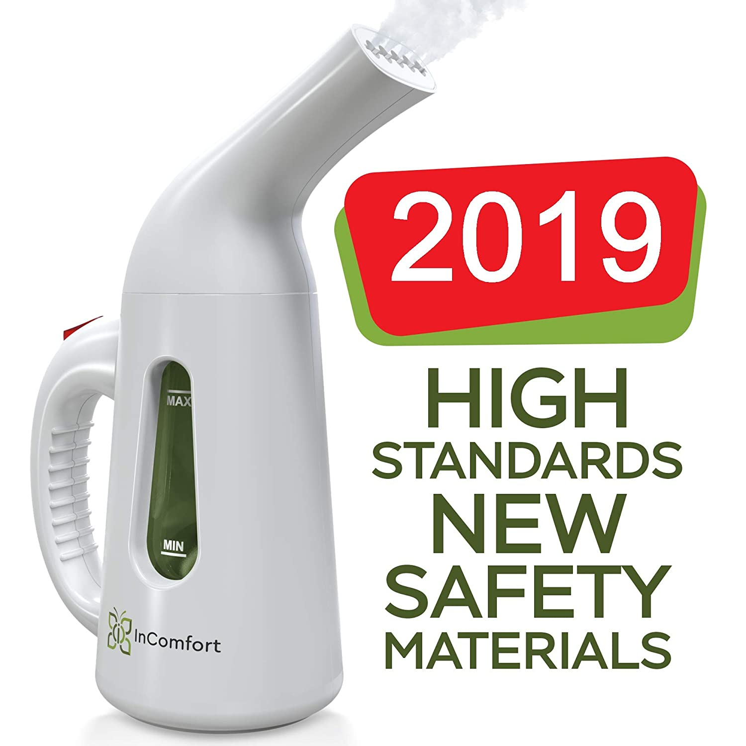 Hand Held Steamer for Clothes – Portable Clothes Steamer Handheld – Power Fabric Clothes Steamer - Little Hand Steamers for Home - Compact and Small Travel Steamer - 140ml Fast Heat Up Mini Steamer