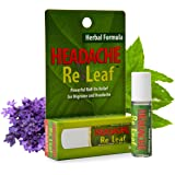 Headache ReLeaf Roll-On, Essential Oil Headache Roller, Herbal Migraine Remedy, Aromatherapy for Headaches, Drug Free Migraine Treatment