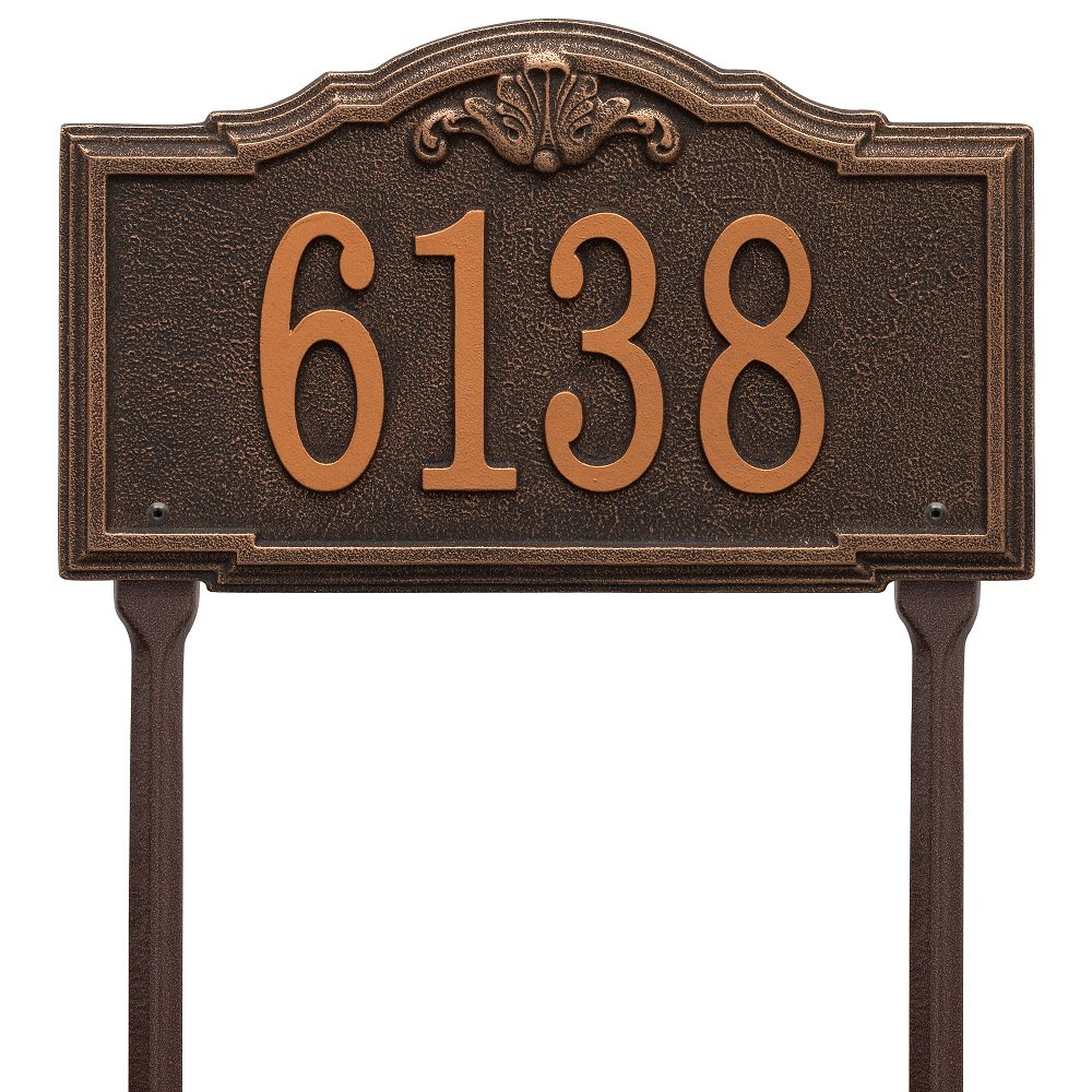 Whitehall Custom Gatewood Standard Lawn Address Plaque 14.25'' W x 8.5'' H (1 Line)