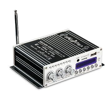 nobsound Bluetooth estéreo HiFi Audio Amplificador Clase D Amplificador Digital DSP Reproductor de música para moto auto coche radio (Negro): Amazon.es: ...