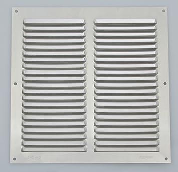 Wetterschutzgitter Lüftungsgitter Aluminium weiß 30 x 30 cm mit Fliegendraht