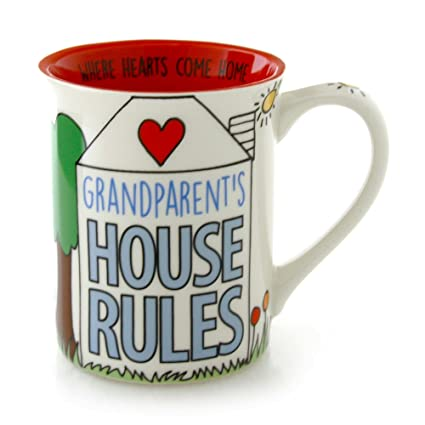 "ae0217f3c20 Our Name is Mud ""Grandparent's House Rules"" Stoneware Mug ..."