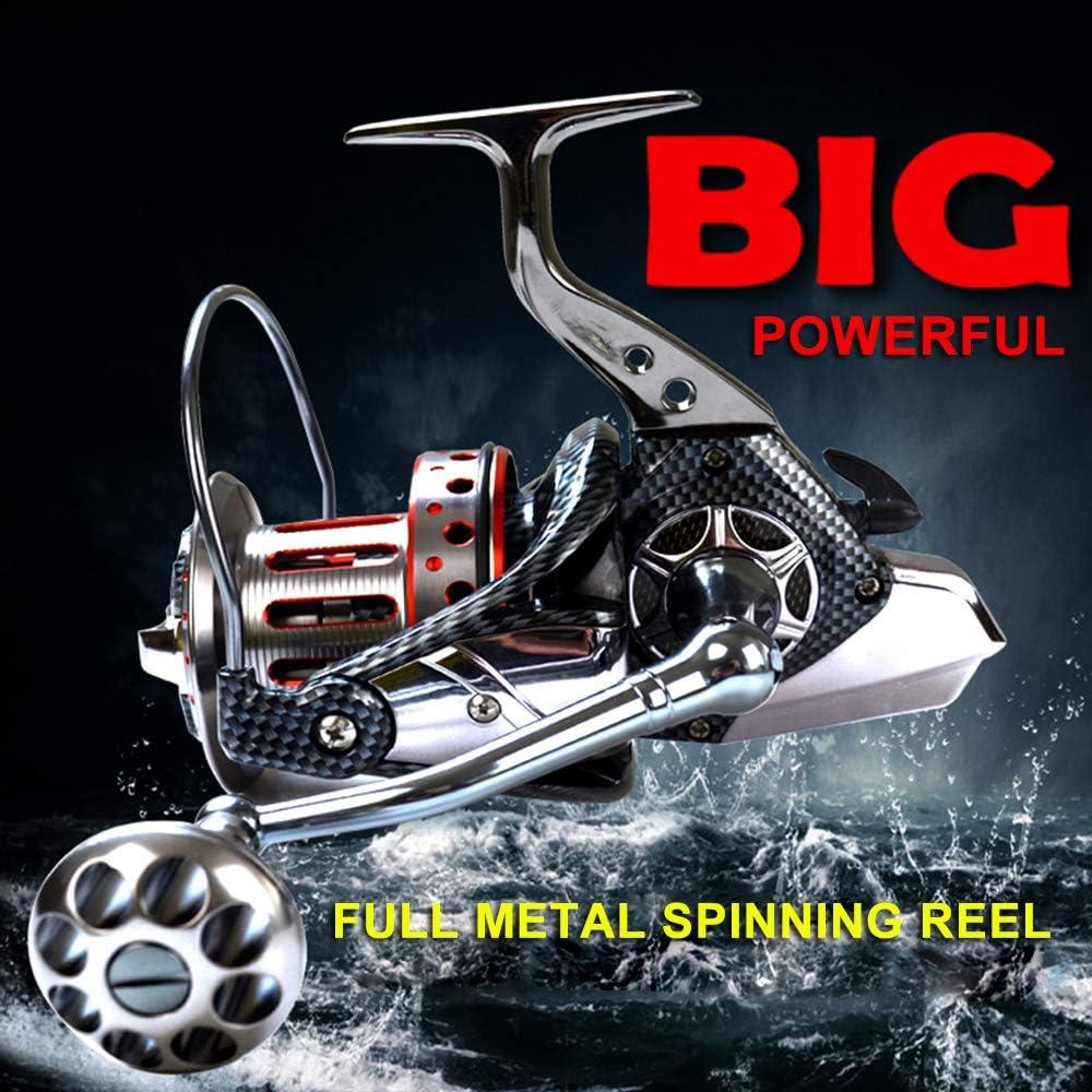 1BB Rodamientos de Bolas 4.7:1 Carrete de Pesca Ligero de Spinning Tackle Carrete de Aluminio Asa Plegable de Pesca Lixada 10