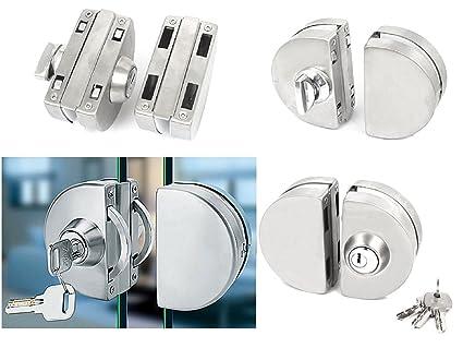322 - Cerradura de puerta de cristal (doble perno de acero inoxidable)
