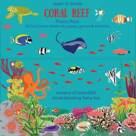Amazon.com: Roger la borde Coral Reef Puzzle Pack 20 Full Color ...