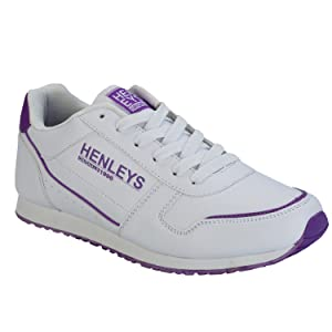 Henleys Women's Classic Sneakers US6 White
