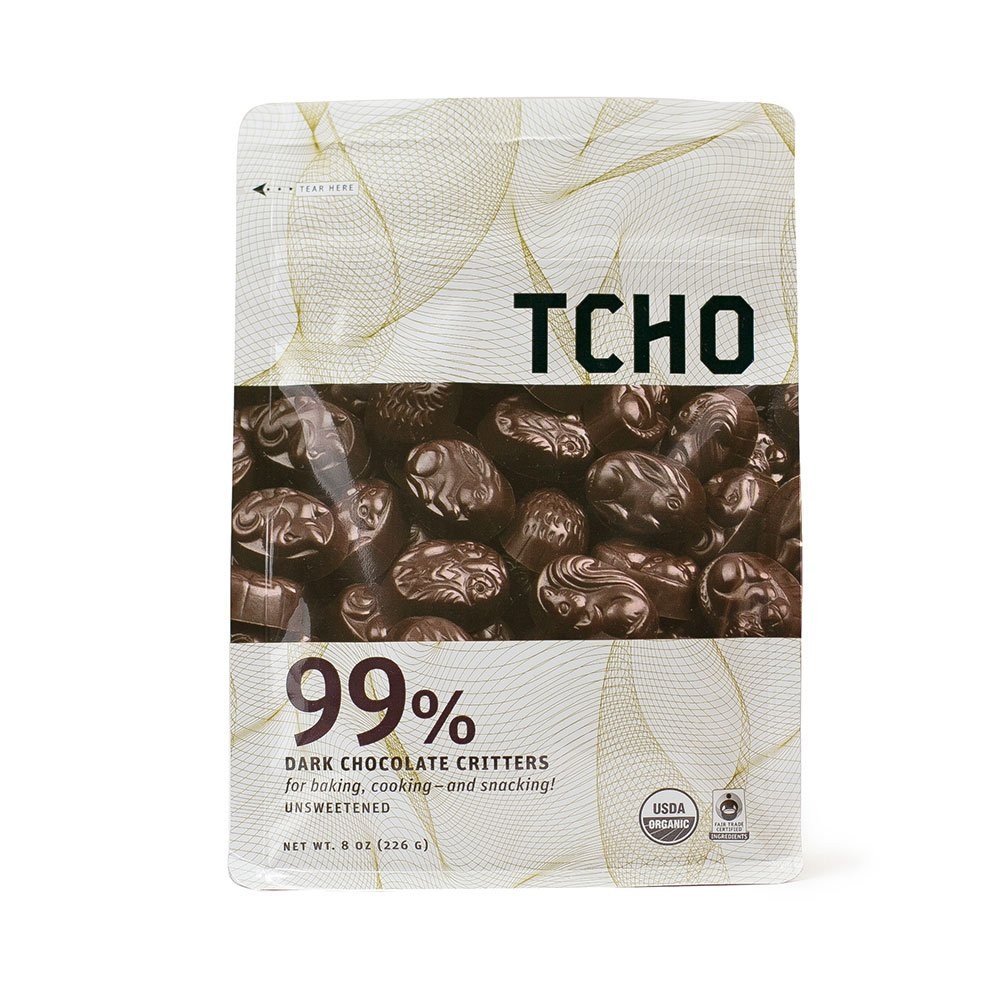Amazon.com : TCHO Chocolate 99% Dark Chocolate Critters, 8 Ounce ...