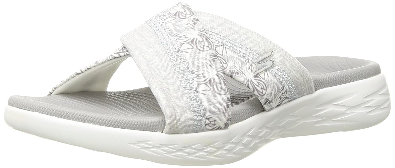 Skechers Women's on-The-Go 600-Monarch Slide Sandal B072T2TQ82 11 M US|White/Gray