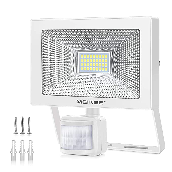 Foco LED con Sensor Movimiento 3000LM, MEIKEE 30W Proyector LED ...