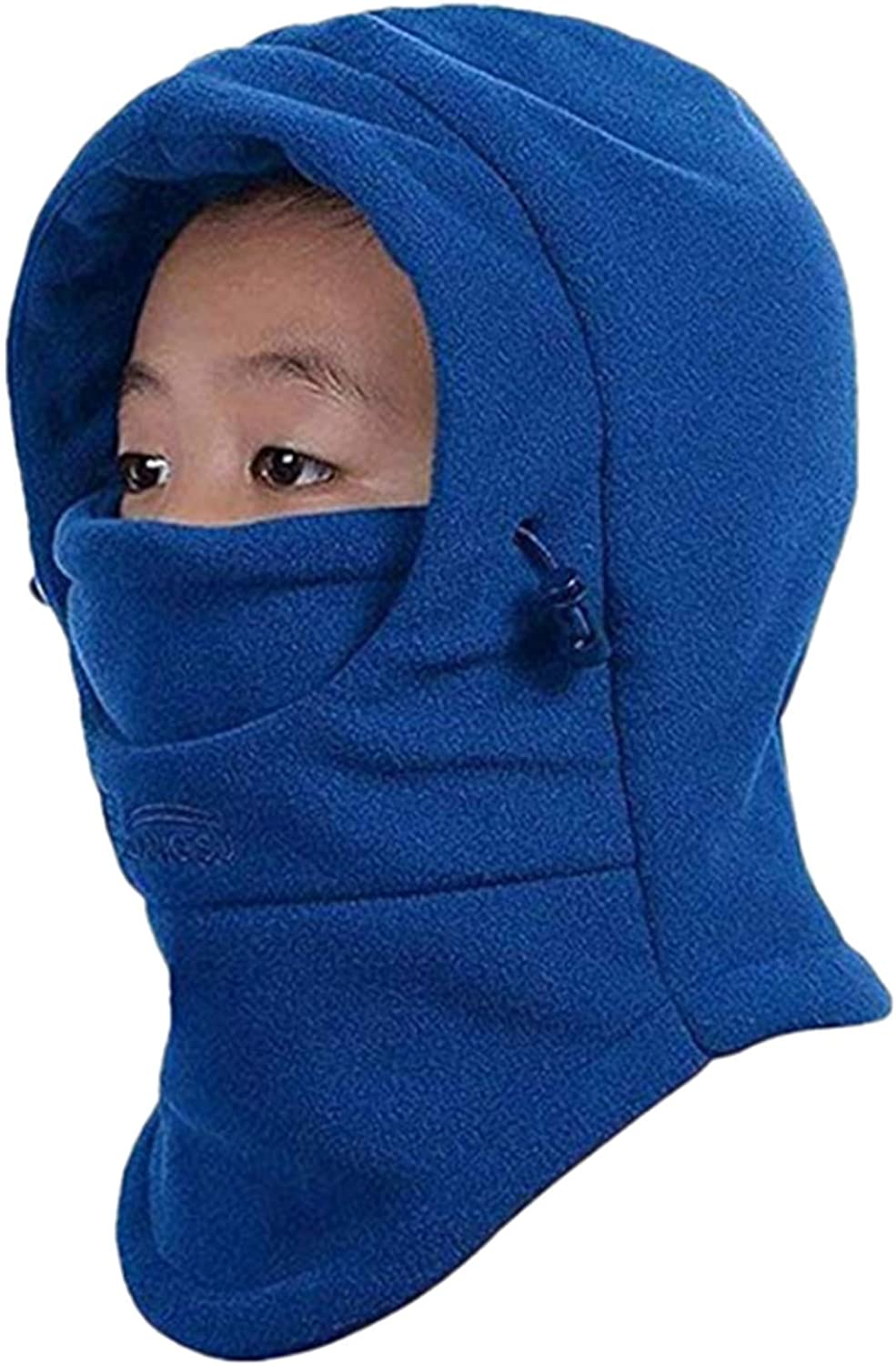ZZLAY Childrens Balaclavas Hat Thick Thermal Windproof Ski Cycling Face Mask Caps Hood Cover Adjustable Cap