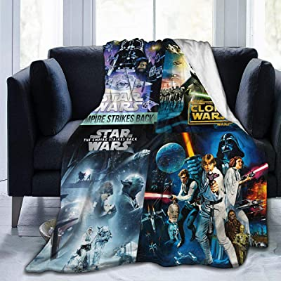 Smile TO Star Wars Clone Wars Warm Plush Christmas Themed Fleece Throw Blankets for Couch Sofa Or Bed Travelling: Home & Kitchen [5Bkhe0503078]
