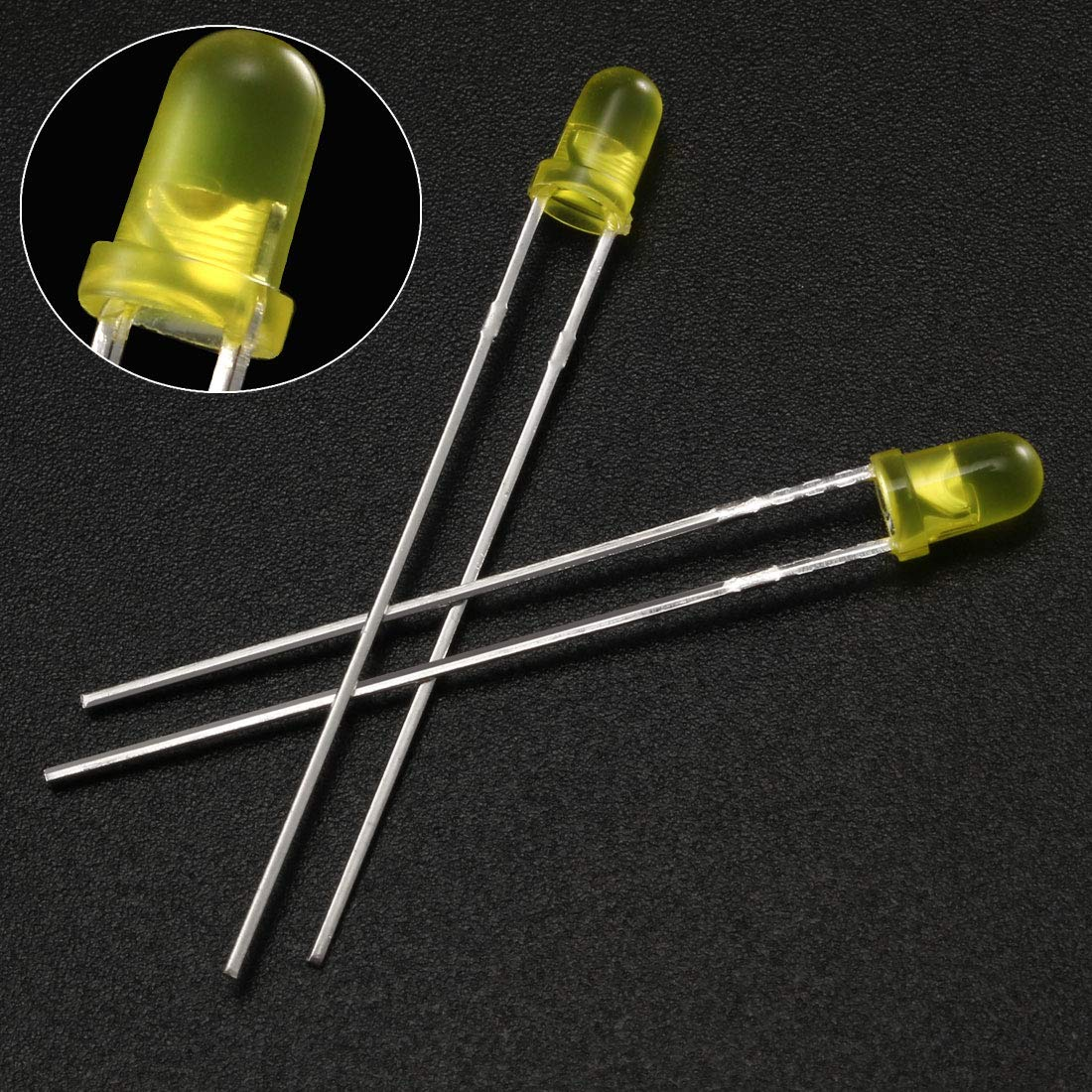 uxcell 150pcs 5mm Red Blue Green 4 Pin LED Diode Lights Clear Round Transparent 20mA Lighting Bulb Lamps Electronic Component Light Emitting Diodes