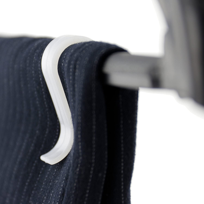 HANGERWORLD 20 White Space Saving Plastic Grips Hanger Clips for Pant Bar Coat Clothes Hangers