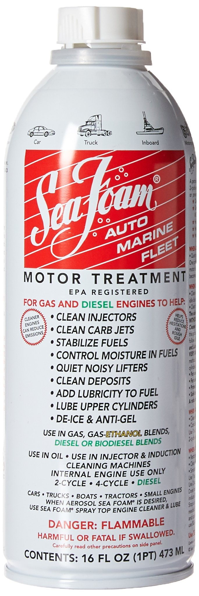Sea Foam SF-16-24PK Motor Treatment - 16 oz., (Pack of 24)