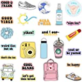 VSCO Vinyl Stickers Waterproof,Aesthetic,Trendy - VSCO Girl Essential Stuff for Water Bottles Stickers Suitable for Photo Sharing, Swimming,Outdoor (Multi Colorful)