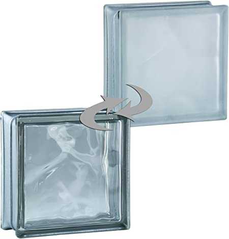 6 pi/èces BM briques de verre wolke reflex anthracite 19x19x8 cm