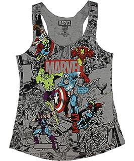 48b70df88729c3 Amazon.com  Marvel Womens Avengers Sleeveless Tank Top (Avengers ...