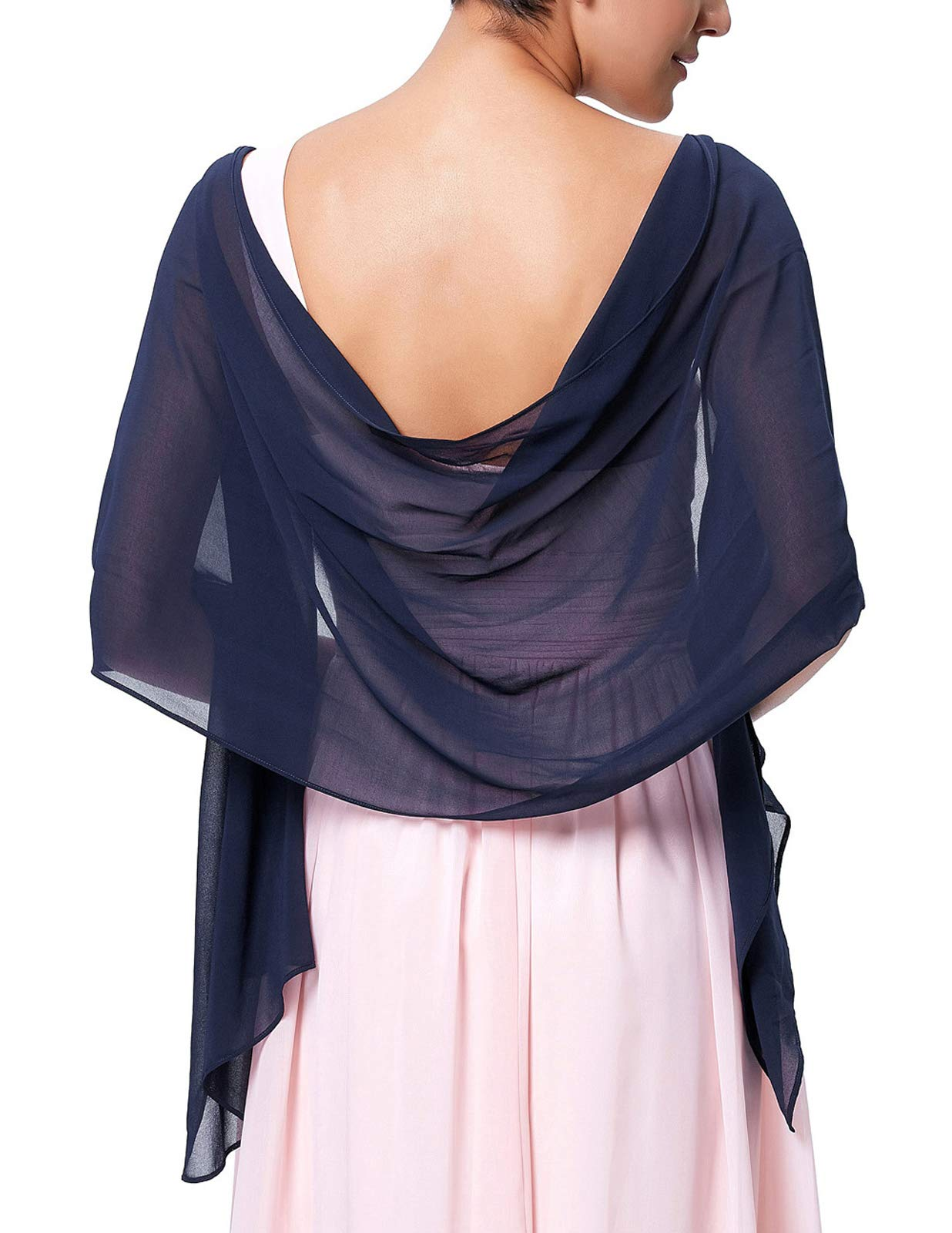 Kate Kasin Women Soft Chiffon Pashmina Scarf Shawls and Wraps for Bridesmaid Wedding Formal Party Evening Dress