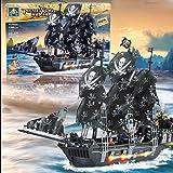 Kazi Building Blocks Caribbean Pirate Black Pearl Ship Boat Gift #87010 1184 Pieces