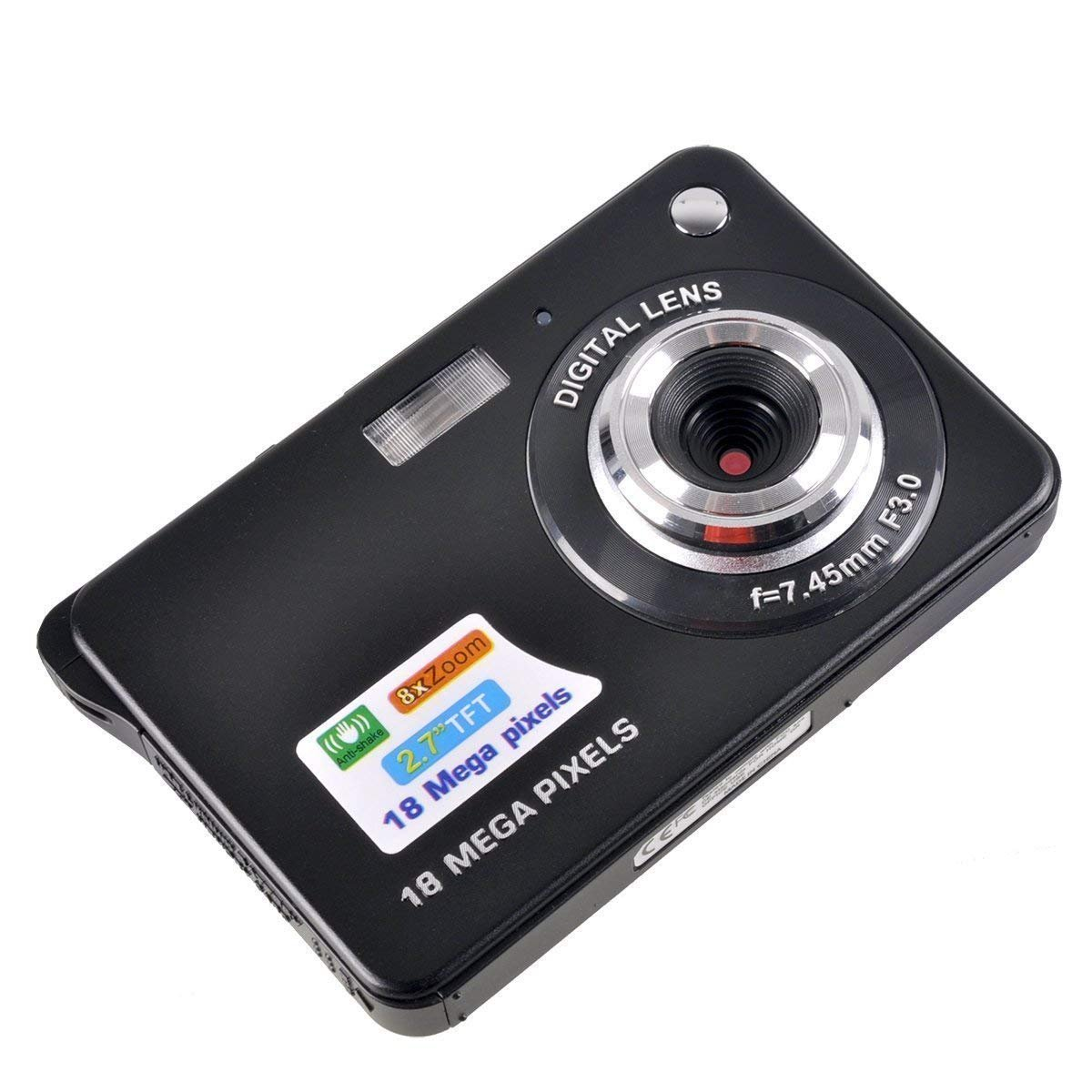 Stoga Black Mini Camera, 2.7 inch, built-in flash
