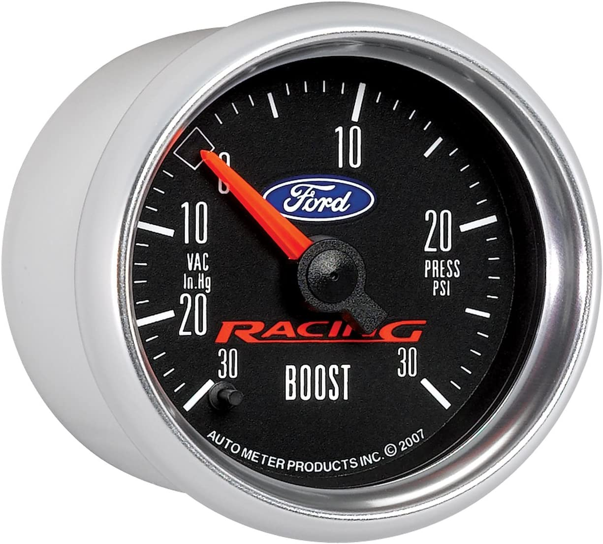 Auto Meter 880074 2-1//16 30 in Hg-30 PSI Electric Boost-Vacuum Gauge for Ford