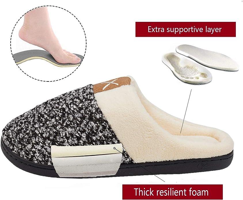 Leggero Antiscivolo dellinterno di Inverno Caldo della Peluche di Memoria Molle delle Pantofole degli Uomini della casa