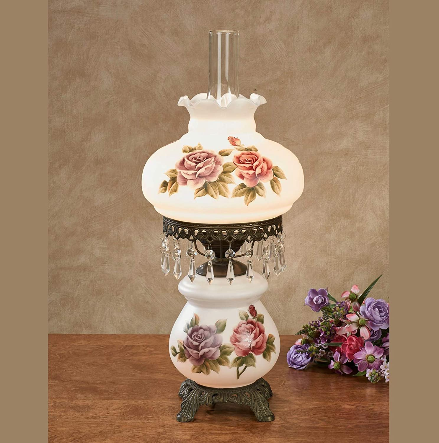 Touch of Class Olivia Jane Hurricane Table Lamp White