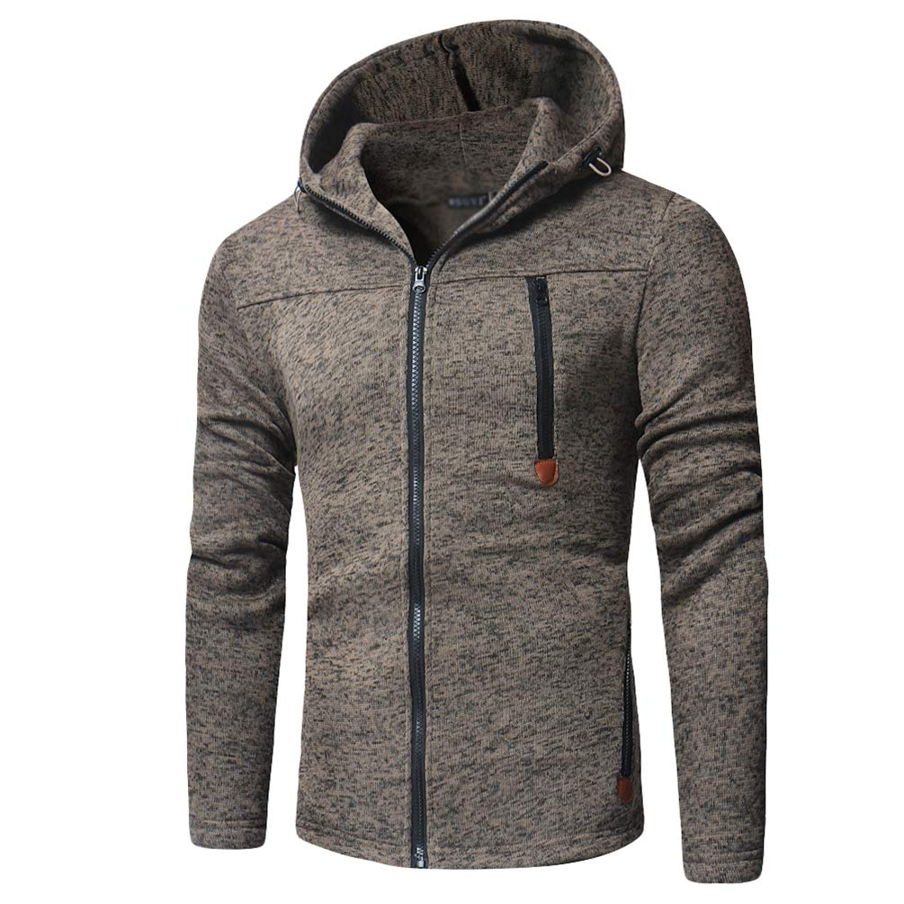 Baijiaye Knitted Hoodies Mens Pullover Sweater Jumpers with Hood Warm Hooded Sweatshirts Casual Long Sleeve Tops Patchwork Color