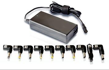 Leotec LENCSHOME06 - Cargador Universal para portátil, 90 W, Voltaje automatico, Red domestica (Incluye 10 Tips)