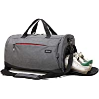 Kenox Sports Gym Bag Travel Duffle Bag with Shoes Compartment
