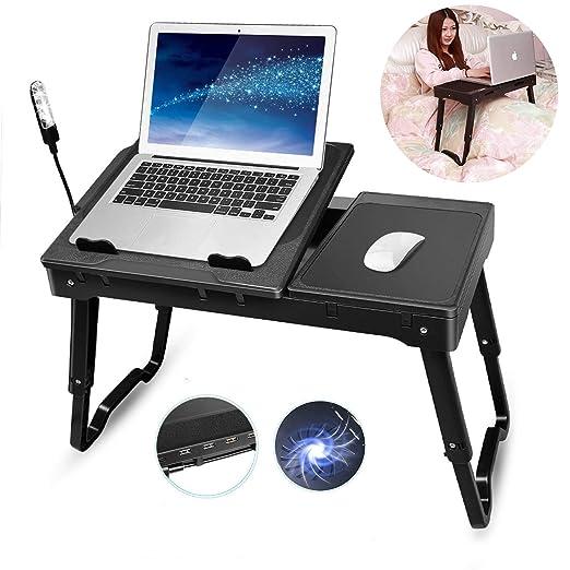 TeqHome Mesa plegable para TV, mesa portátil para ordenador ...