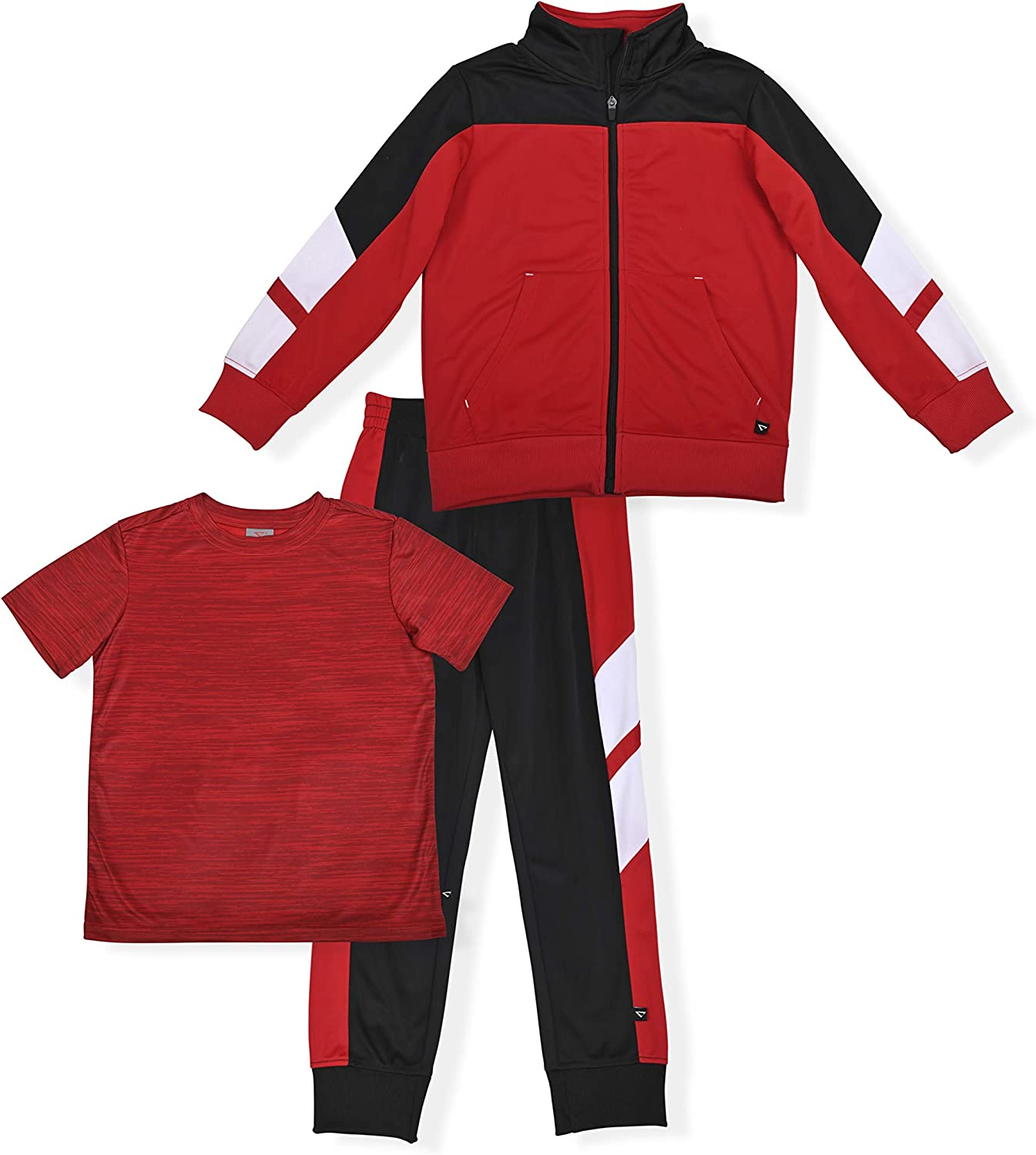 Cheetah Boys' 3 Piece Jogger Set with Jacket, T-Shirt and...