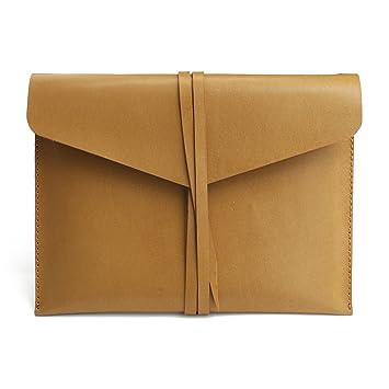 392ec1c1d0a Funda personalizada hecha a mano de piel auténtica para iPad, funda de piel  para Apple Tablet, color castaño A5: Amazon.es: Oficina y papelería