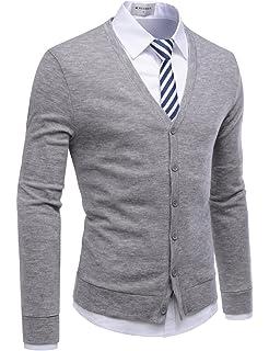 H2h Mens Slim Fit Cardigan Sweater Shawl Collar Soft Fabric With