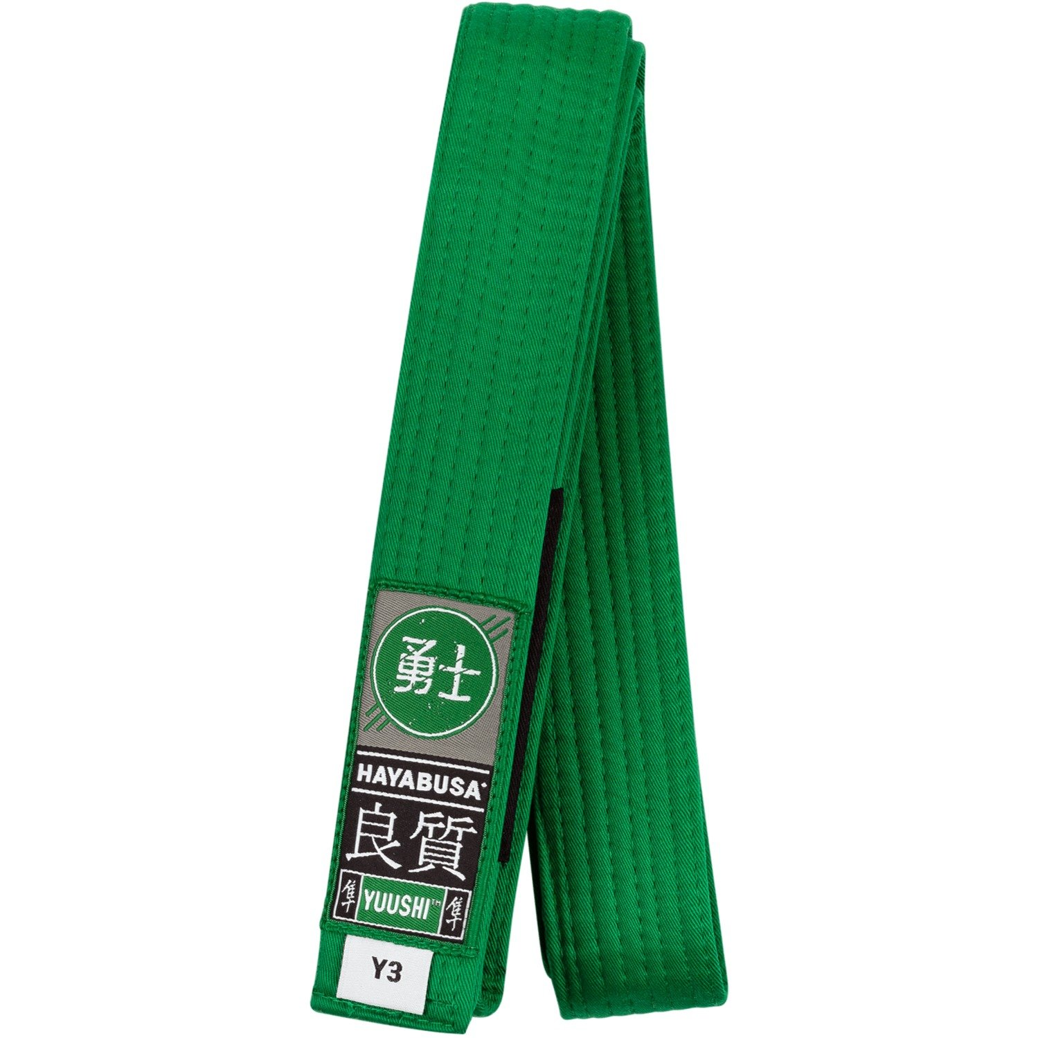 Hayabusa Cotton Youth Jiu Jitsu Belt, Green, Y0 by Hayabusa